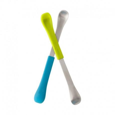 Boon - Dwustronne łyżeczki Blue/Green