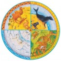 Puzzle okrągłe XXL zwierzęta