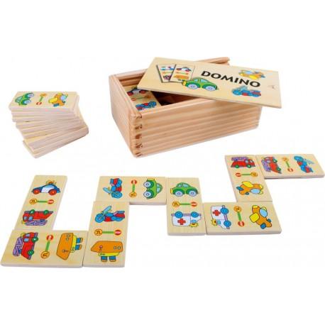 Domino drewniane obrazkowe - Pojazdy