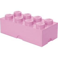 Pojemnik w kształcie klocka LEGO 8 - jasny róż