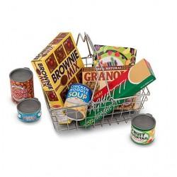 Koszyk z zakupami do zabawy w skle