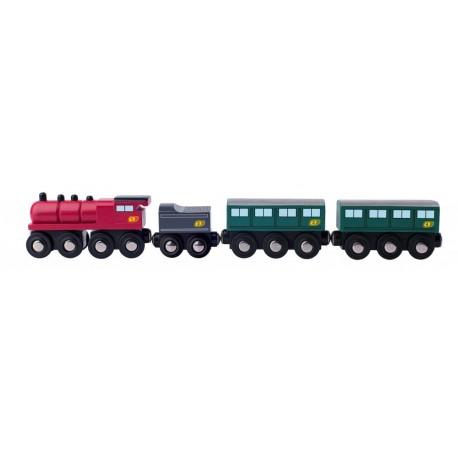 Pociąg pasażerski kolejka drewniana Orient Express