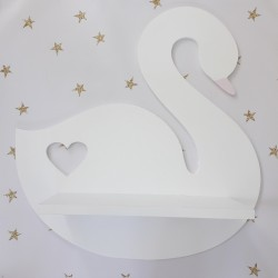 Półka do pokoju dziecka Łabędź - biała