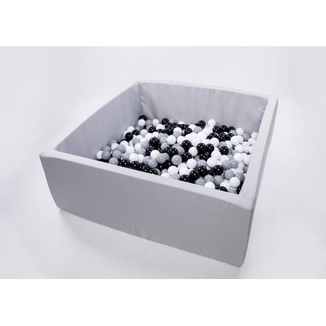 Suchy basen dla dzieci z piłeczkami 130x130x50 kwadratowy 700 szt. piłek - kolekcja SUMMER