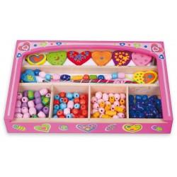 Pudełko różowe z biżuterią