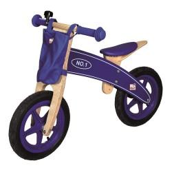 Drewniany rowerek biegowy granatowy
