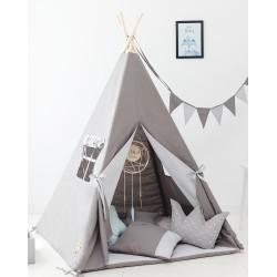 Namiot tipi dla dziecka Szarość Poranka - zestaw