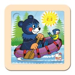 Puzzle dla malucha Barbial na pontonie