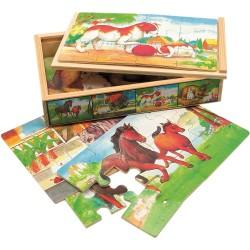 Puzzle drewniane Animals zestaw 4 obrazków