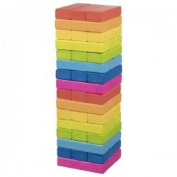 Wieża z klocków - kolorowa gra rodzinna