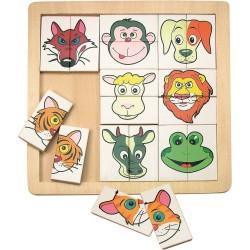Puzzle głowy zwierząt