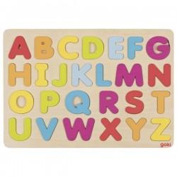 Goki Puzzle kolorowy alfabet na nauki liter