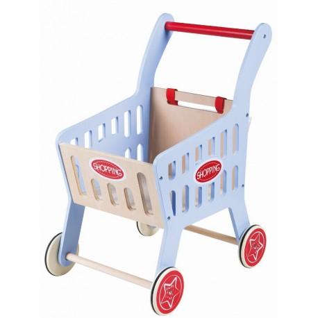 Drewniany wózek sklepowy - pchacz Lelin
