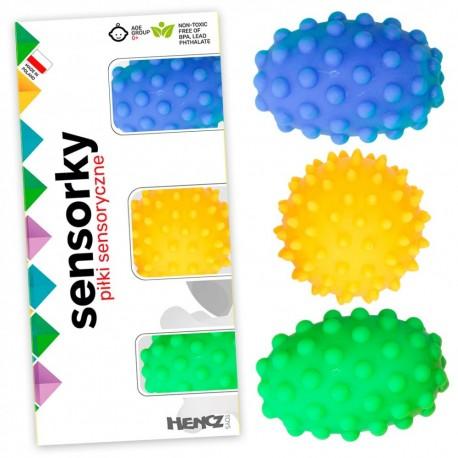 Piłeczki sensoryczne 3 sztuki w pudełku
