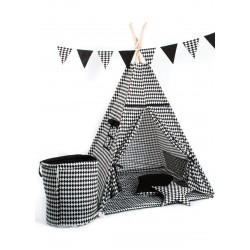 Namiot tipi dla dziecka Szachownica - zestaw mini