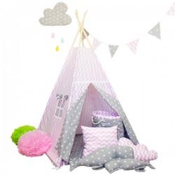 Namiot tipi dla dziecka Bajkowe Królestwo - zestaw midi
