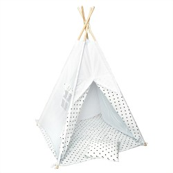Namiot tipi dla dziecka Czarne Gwiazdeczki - zestaw mini