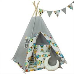 Namiot tipi dla dziecka Roboty - zestaw mini