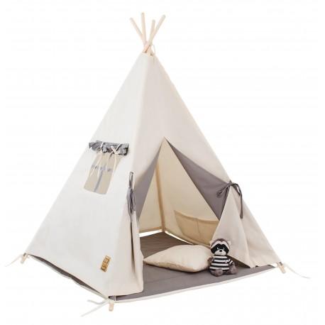 Namiot tipi dla dziecka Naturalna Szarość - zestaw maxi