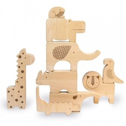 Drewniane puzzle Safari