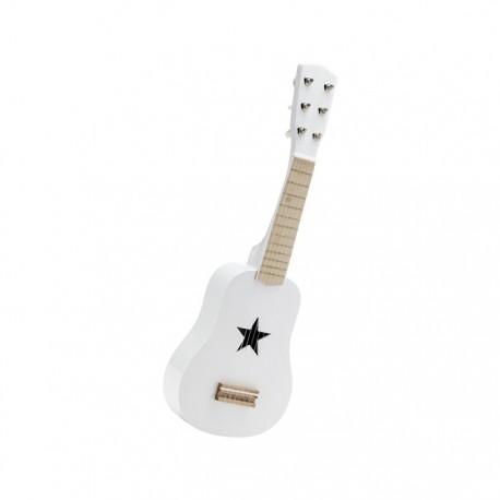 Drewniana gitara - biała