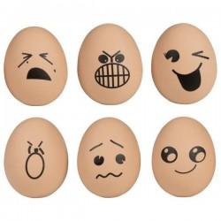 Piłeczka jajko - zestaw 6 sztuk