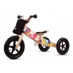 Rowerek biegowy drewniany 2w1 Twist Mosaic Black
