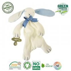 Maud N Lil Oscar The Bunny Comforter Organiczny Mięciutki Pocieszyciel dou dou z łapką na smoczek
