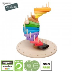organic woodboon Wieża Paleta Barw Puzzle Układanka Edukacyjna