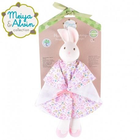 Meiya & Alvin - Havah Bunny Snuggly Comforter with Organic Teether Head