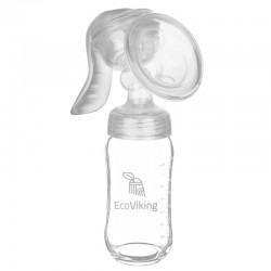 Eco Viking Mummy Milk Laktator z Butelką Szklaną Szeroką 240 ml