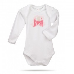 Lait Baby Organic Body Long Sleeve Rose the Bunny