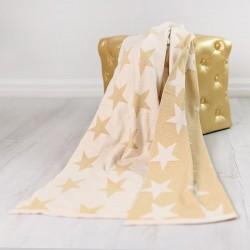 Bizzi Growin Gold Stars Blanket kocyk tkany Złote Gwiazdy