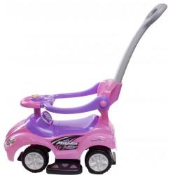 Jeździk Mega car z popychaczem - różowy