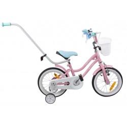 """Rowerek BMX 14"""" Gwiazdka - różowy z tukkusowym siodełkiem"""