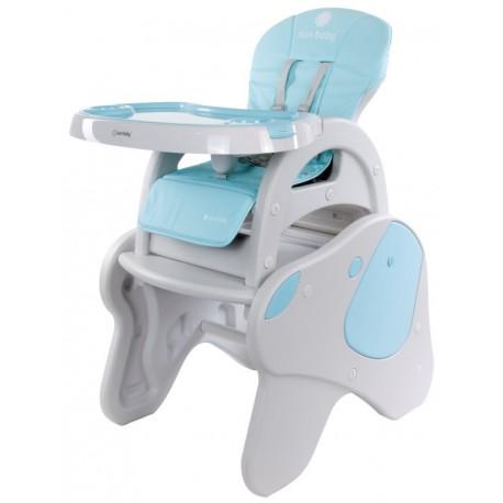 Krzesełko do karmienia 2w1 piesek beżowo-niebieski