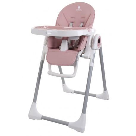 Krzesełko do karmienia Fidi różowe