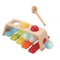 Grające kulki i przebijanka - zabawka 2w1