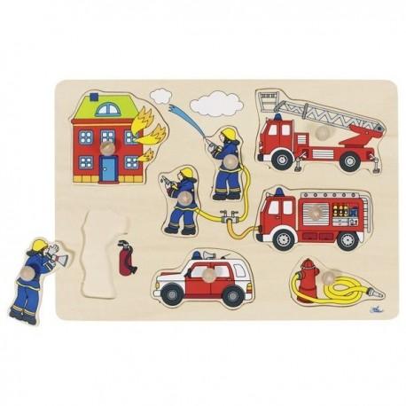 Układanka z uchwytami Strażacy
