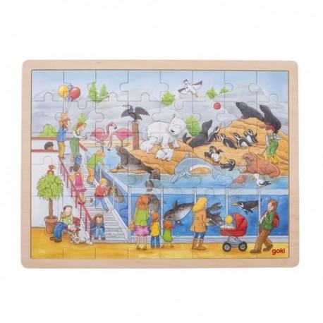 Duże puzzle wizyta w ZOO