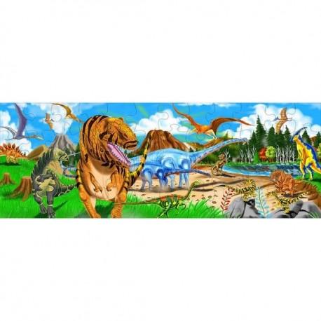 Puzzle podłogowe świat prehistoryczny 48el.