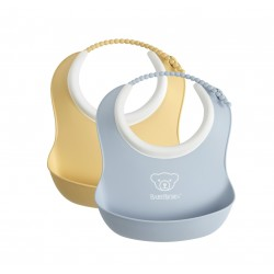 BABYBJORN - 2 małe śliniaczki Powder Yellow/ Powder Blue