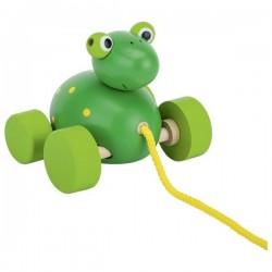 Żabka Frodo – zabawka do ciągnięcia na sznurku
