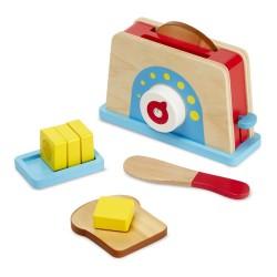 Drewniany zestaw śniadaniowy z tosterem