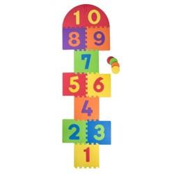 Duże piankowe puzzle do gry w klasy