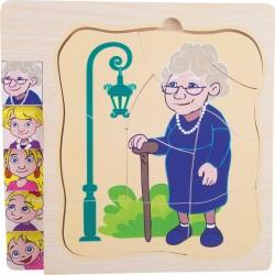 Puzzle warstwowe życie babci