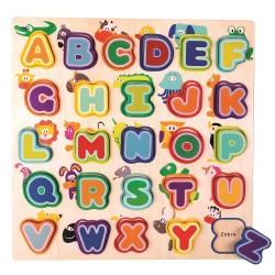 Edukacyjna drewniana układanka – Alfabet