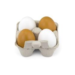 Jajka drewniane XL w wytłoczce