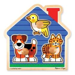 Puzzle z uchwytami duże– Domowi przyjaciele