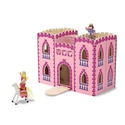 Zamek z figurkami różowy księżniczka